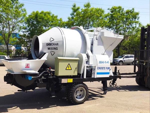 Electric Engine Concrete Mixer Pump