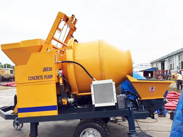 Electric Portable concrete mixer with pump