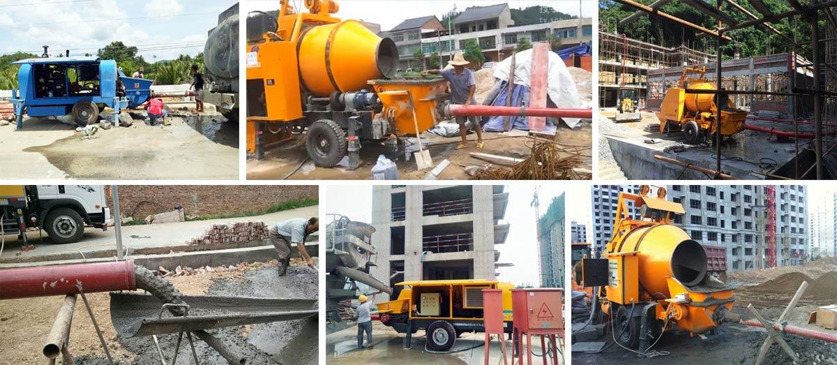 Portable Concrete Pumps On Construction Sites