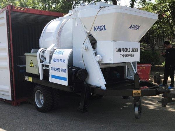 delivering concrete pump to Bangladesh