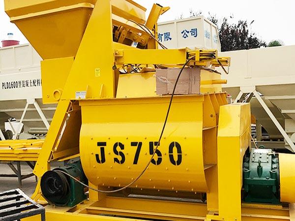 JS750 Twin Shaft Concrete Mixer