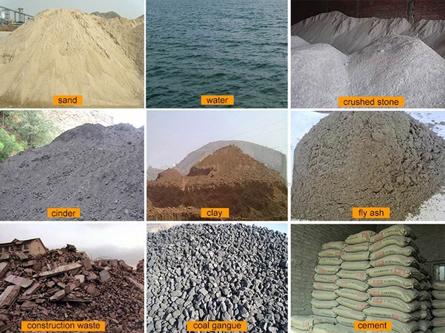 Raw Materials of Cement Block Machine