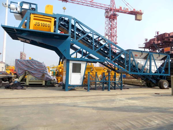 AJY60 Portable Concrete Batch Plant