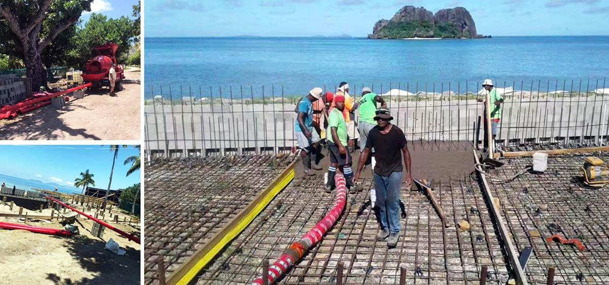 Concrete Mixer Pump on Construction Sites