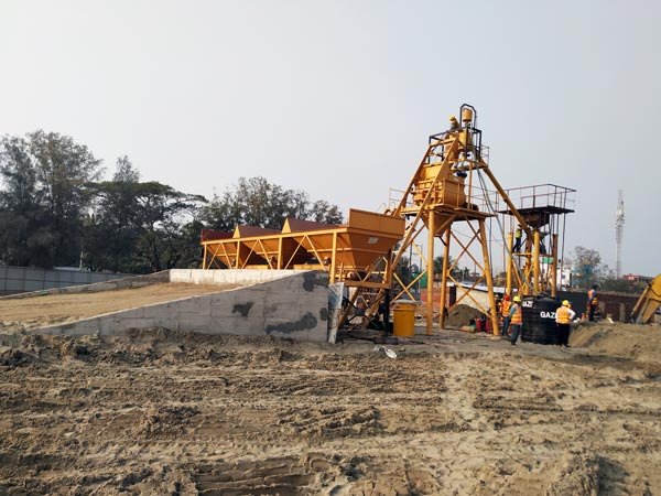 Finished Concrete Plant Installation