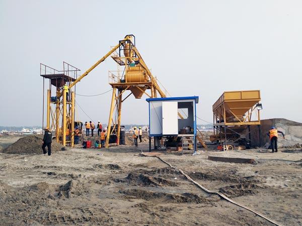 AJ25 Stationary Concrete Plant for Sale