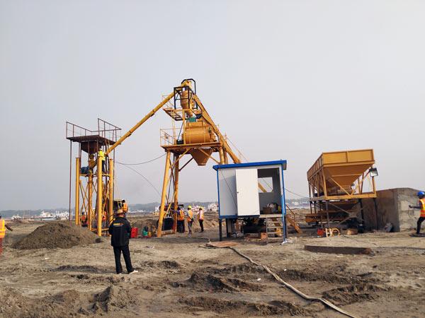 Installing Concrete Plant on Construction Sites