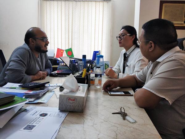 Visiting Customers in Bangladesh