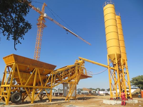 AJY35 mobile concrete plant