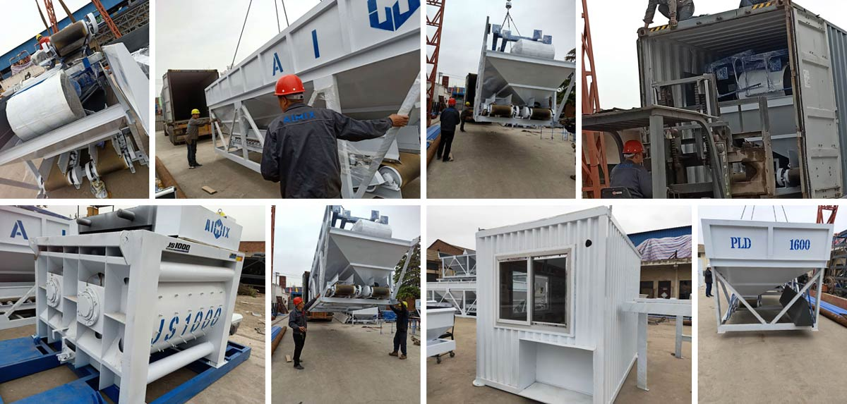 Transporting AJ50 Concrete Plant to Bangladesh