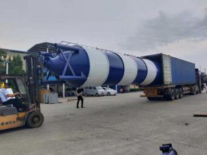 loading cement silo