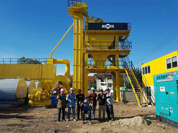 Asphalt Batching Plant in Thailand