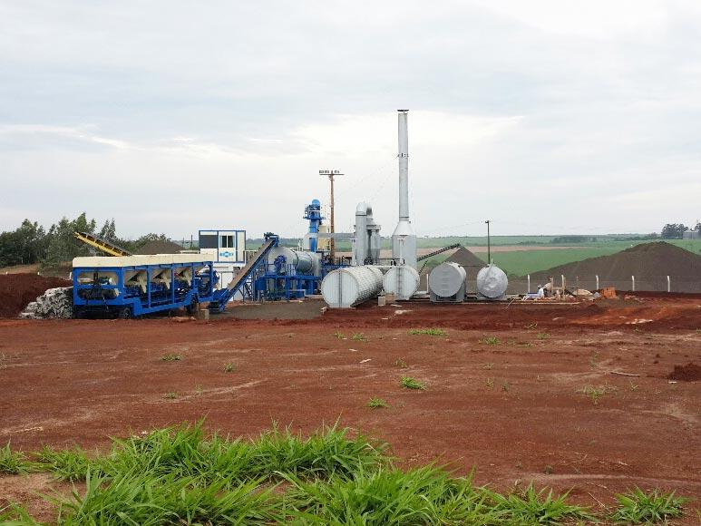 Asphalt Drum Plant in Uruguay