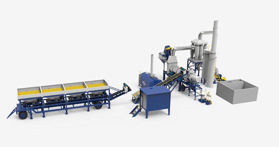 Drum Mix Asphalt Plant Process Flow