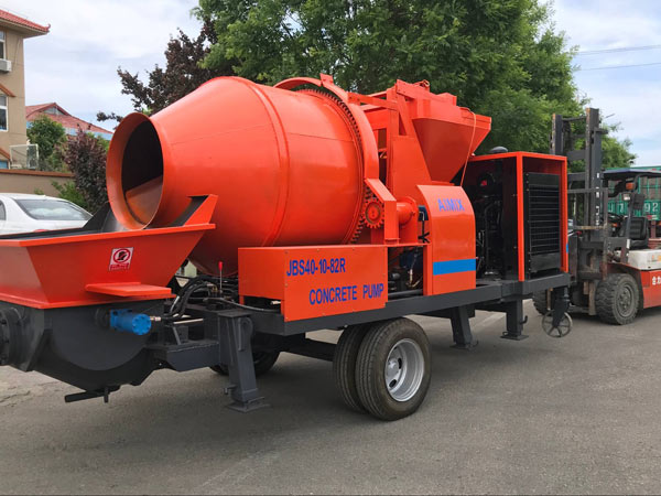 ABJZ40C Mobile Concrete Mixer Pump