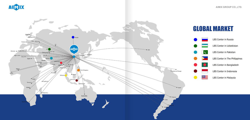 Aimix Machine All Over The World