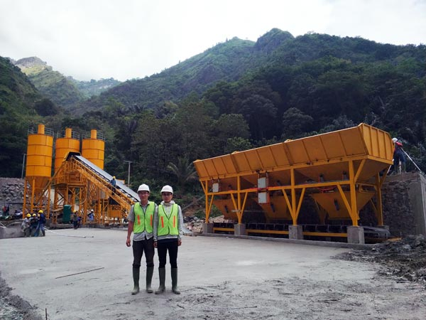 Testing Concrete Plant in Indonesia