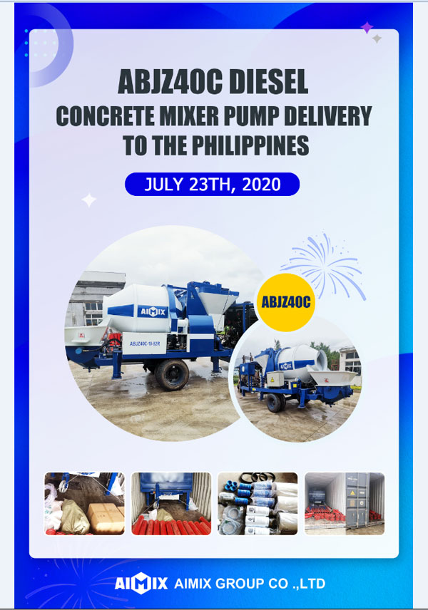 Delivering AIMIX Concrete Mixer Pump to The Philippines