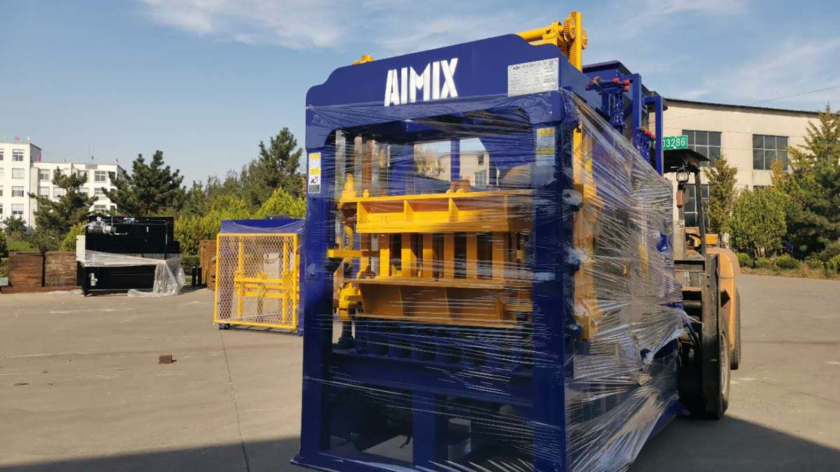 Delivering AIMIX Brick Machine to Armenia