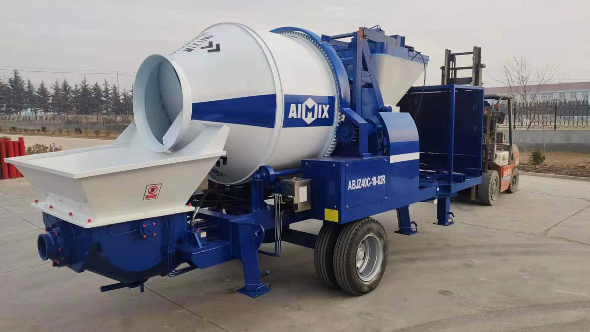 AIMIX ABJZ40C Diesel Concrete Mixer Pump Was Exported to Canada