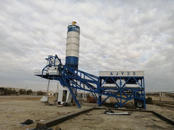 AIMIX Mobile Concrete Plant in Uzbekistan