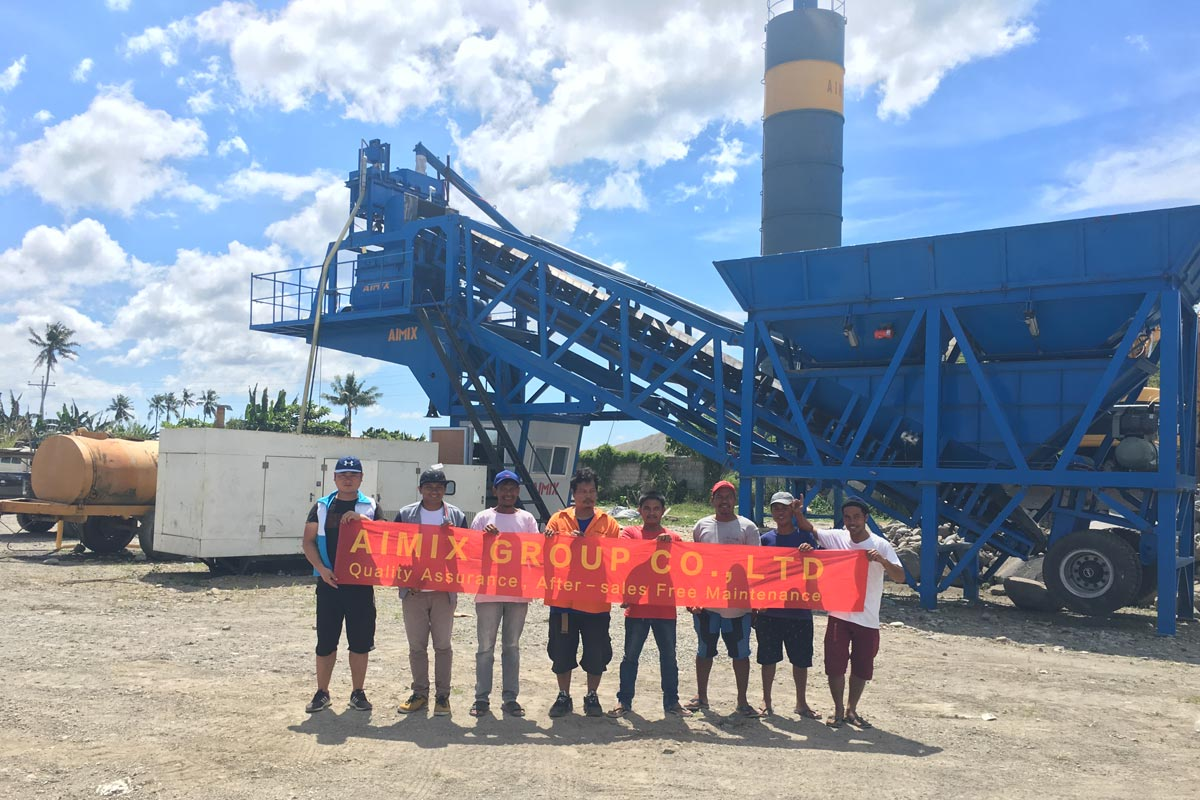 Debugging AJY35 Mobile Concrete Plant in The Philippines