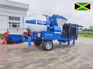 Delivering ABJZ40C Concrete Mixer Pump to Jamaica